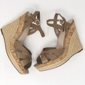 Charles by Charles David Astro Wedge Sandals Taupe